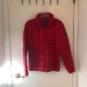 Abercrombie & Fitch Red Puffer Jacket